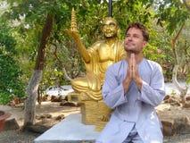 Caucasian Man Praying Stock Photos