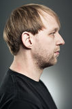 Caucasian Man Profile Portrait Royalty Free Stock Images