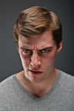 Caucasian man with a psychopathic stare portrtait Royalty Free Stock Photography