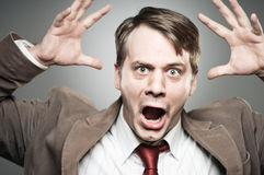 Caucasian Man Screaming Angry Portrtait Royalty Free Stock Image