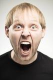 Caucasian Man Screaming Portrait Royalty Free Stock Photos