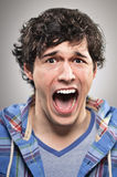 Caucasian Man Screaming Portrtait Royalty Free Stock Photography