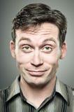 Caucasian Man Smug Portrait Stock Image