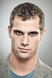 Caucasian Man Stare Down Portrait Stock Images
