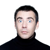 Caucasian man stun surprised startle portrait Stock Images