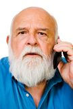 Caucasian man talking on mobile Stock Photography