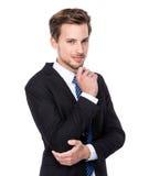Caucasian man thinking Stock Photography