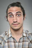 Caucasian Man Wide Eyed Surprise Portrait Stock Photos