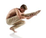 Caucasian manlig dansare royaltyfri bild