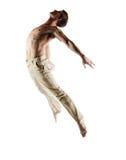 Caucasian manlig dansare royaltyfri fotografi