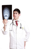 Caucasian mid adult male doctor Royalty Free Stock Photography