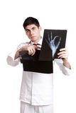 Caucasian mid adult male doctor Stock Photos