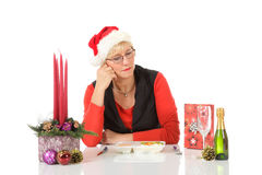 Caucasian middle aged woman, loneliness Royalty Free Stock Images
