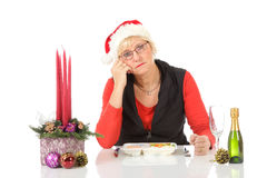 Caucasian middle aged woman, loneliness Stock Photography