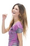 Caucasian model smiling Stock Photos