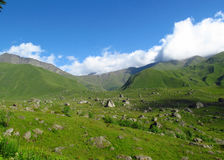 Caucasian mountain green valley Stock Photos