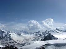 Caucasian mountain. Sky clouds snow Stock Image
