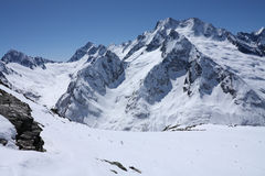 Caucasian mountains Royalty Free Stock Images