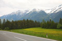 The Caucasian mountains Royalty Free Stock Photography