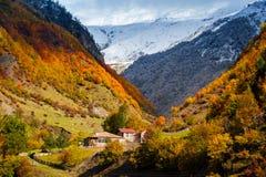 Caucasian mountains of Svaneti in the fall. Georgia Stock Photo