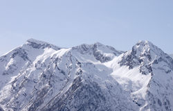 Caucasian mountains at winter Royalty Free Stock Image