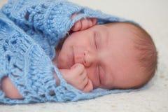 Caucasian newborn baby Stock Photography