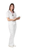 Caucasian nurse Stock Photography