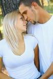 caucasian par älskar romantiker som delar barn royaltyfria foton