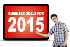 Caucasian person with business goals Stock Images