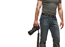 Caucasian photographer Stock Images