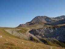 Caucasian reserve mountain Oshten. Grass sky Royalty Free Stock Photos