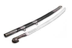 Caucasian saber (sabre, cavalry sword). Royalty Free Stock Images