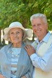 caucasian senior couple  in the park Stock Photography