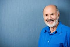 Caucasian senior teacher smiling at camera stock image