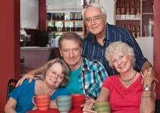 Caucasian Seniors Sitting Together Stock Photography