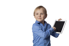Boy with touch pad Royalty Free Stock Photo