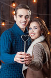 Caucasian smiling couple Royalty Free Stock Images
