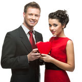 Caucasian smiling couple Royalty Free Stock Photography