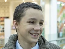 Caucasian smiling teenage young happy boy.  royalty free stock photography