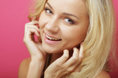 Caucasian smiling woman blond Royalty Free Stock Photography