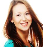 Caucasian smiling woman Royalty Free Stock Image