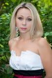 caucasian ståendekvinna Fotografering för Bildbyråer
