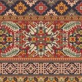 Caucasian style antique rug motifs patchwork vector illustration