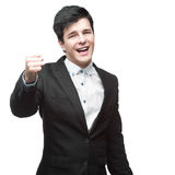 Caucasian successful young businessman Royalty Free Stock Photos