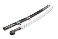caucasian svärd för kavallerisabersabel Royaltyfria Bilder