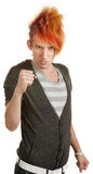 Caucasian Teen with Clenched Fists Royalty Free Stock Photography