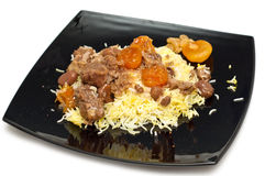 Caucasian traditional pilaf. Royalty Free Stock Photo