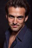 caucasian unga mantwenties för attraktiv brunett Fotografering för Bildbyråer