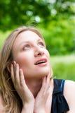 caucasian utomhus- kvinna fotografering för bildbyråer