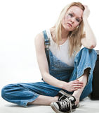Caucasian white trash woman royalty free stock images